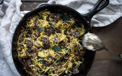 RECIPE: SPAGHETTI SQUASH WITH MUSHROOMS AND SAGE