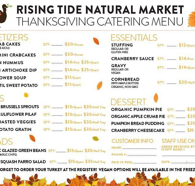 Let risingtidemarket cook for you this Thanksgiving! allthegoodstuff classicswithatwist happythanksgivinghellip