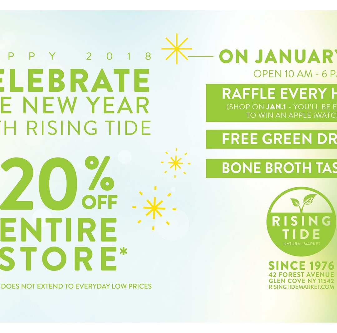 Come Celebrate with Us on Jan. 1…Everything is 20% Off!*