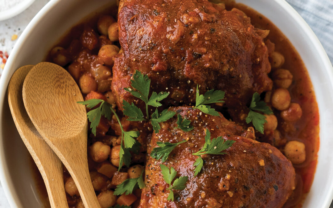 RECIPES: Berbere Chickpeas with Chicken