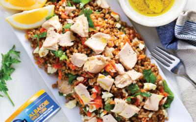 Tuna, Feta, and Wheat Berry Salad
