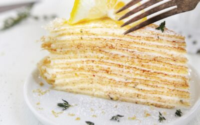 Lemon-Thyme Crepe Cake