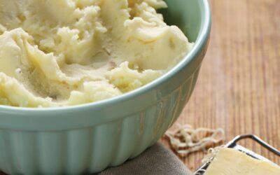 Cheddar and Garlic Mashed Potatoes