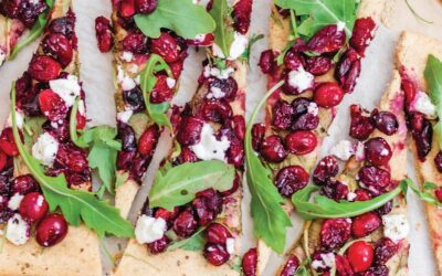 Roasted Cranberry and Goat Cheese Flatbread